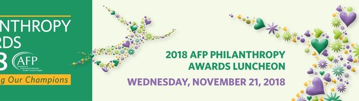 Thrilled to Be Named the 2018 Outstanding Philanthropist of the Year
