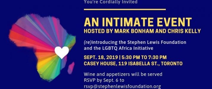 Co-Hosting a Reception for the Stephen Lewis Foundation